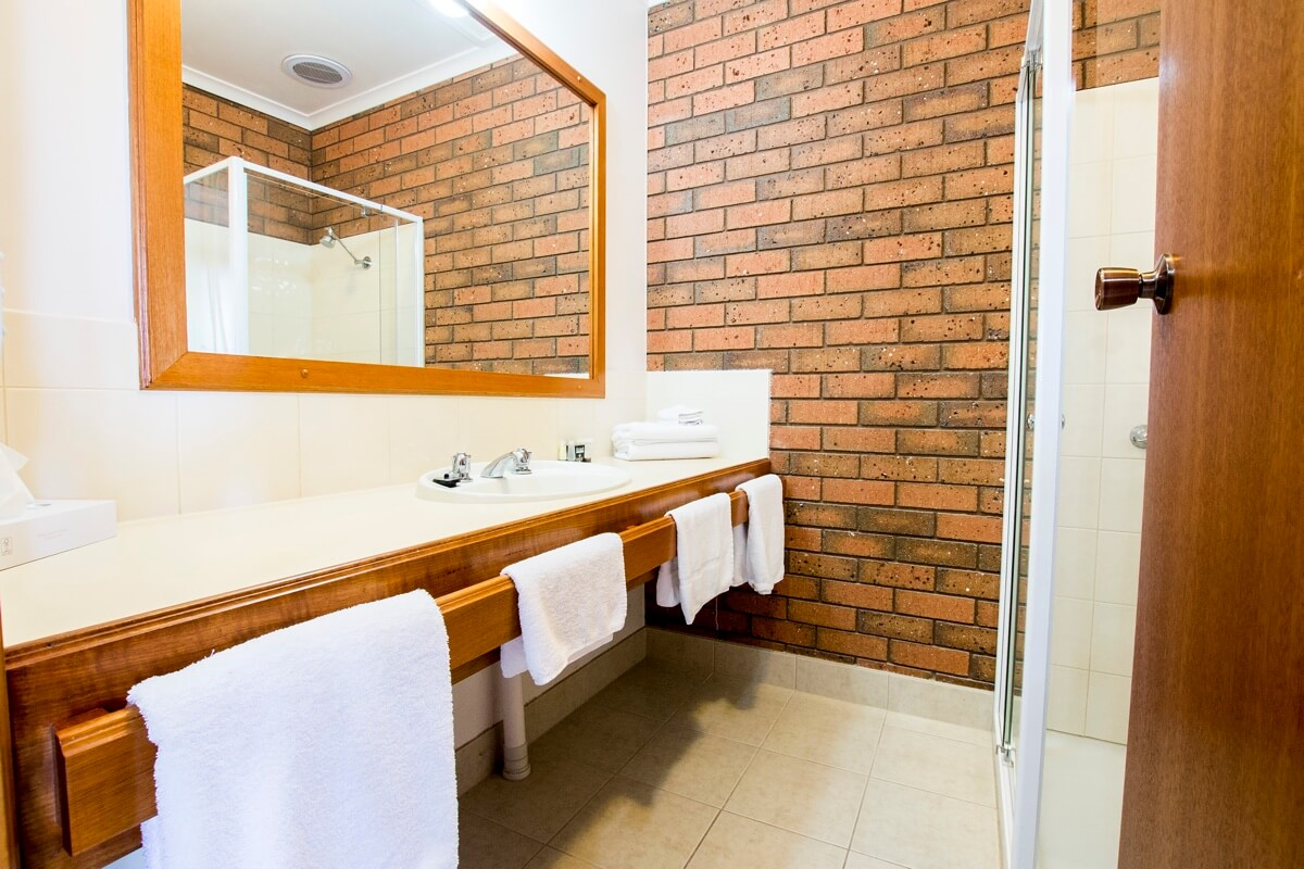 One Bedroom Family Room Bathroom